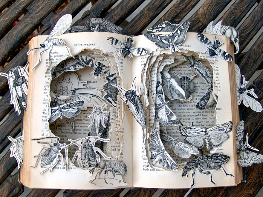 Book installation in the Municipal Library of Prague by Matej Krén