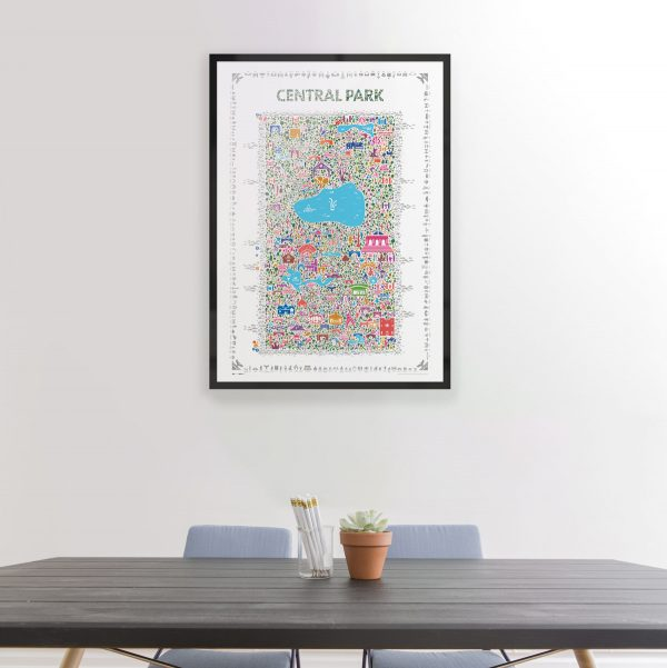 Best Central Park collectable poster art print wall decor