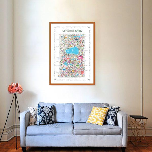 Best Central Park poster art print wall decor